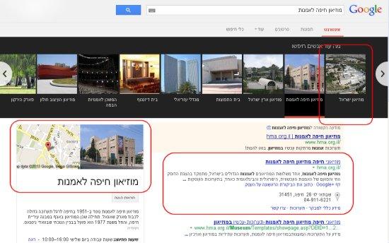 תוצאות קרוסלה בגרף הידע של גוגל