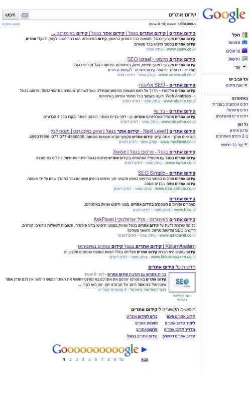 קידום אתרים בגוגל ישראל
