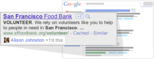 כפתור גוגל +1