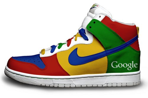 נעלי נייק בעיצוב גוגל