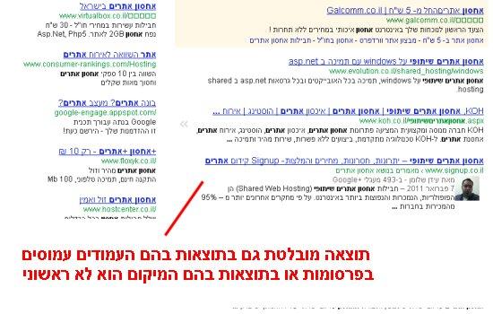 דוגמא ליישום אחסון אתרים שיתופי