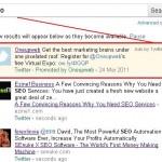 מודעות טוויטר בחיפוש גוגל Realtime
