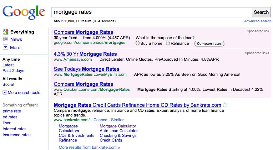 4 מודעות גוגל אדוורדס בשנת 2010
