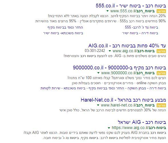 4 מודעות גוגל אדוורדס
