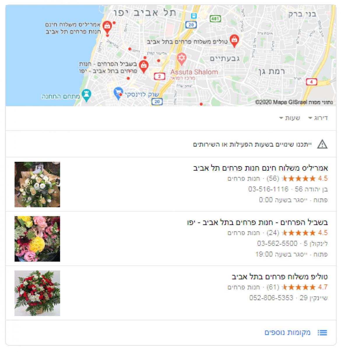 קידום אתרים לחנויות פרחים, צמחים ועציצים